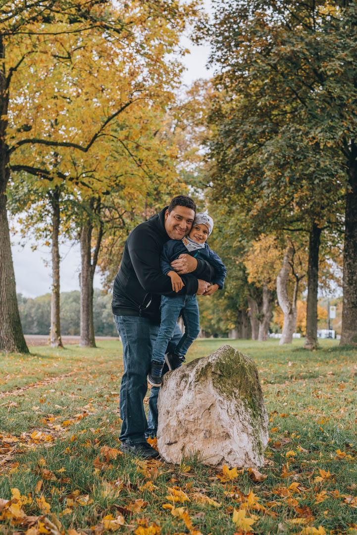 Portrait Papa und Sohn
