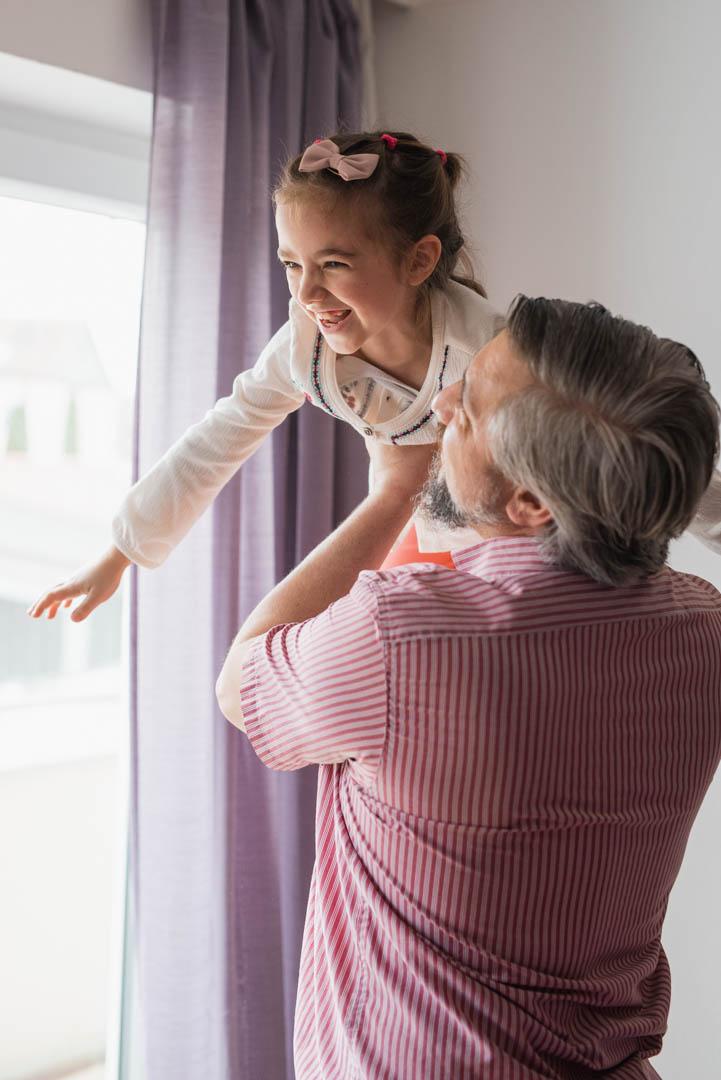 Familienfoto Papa und Tochter