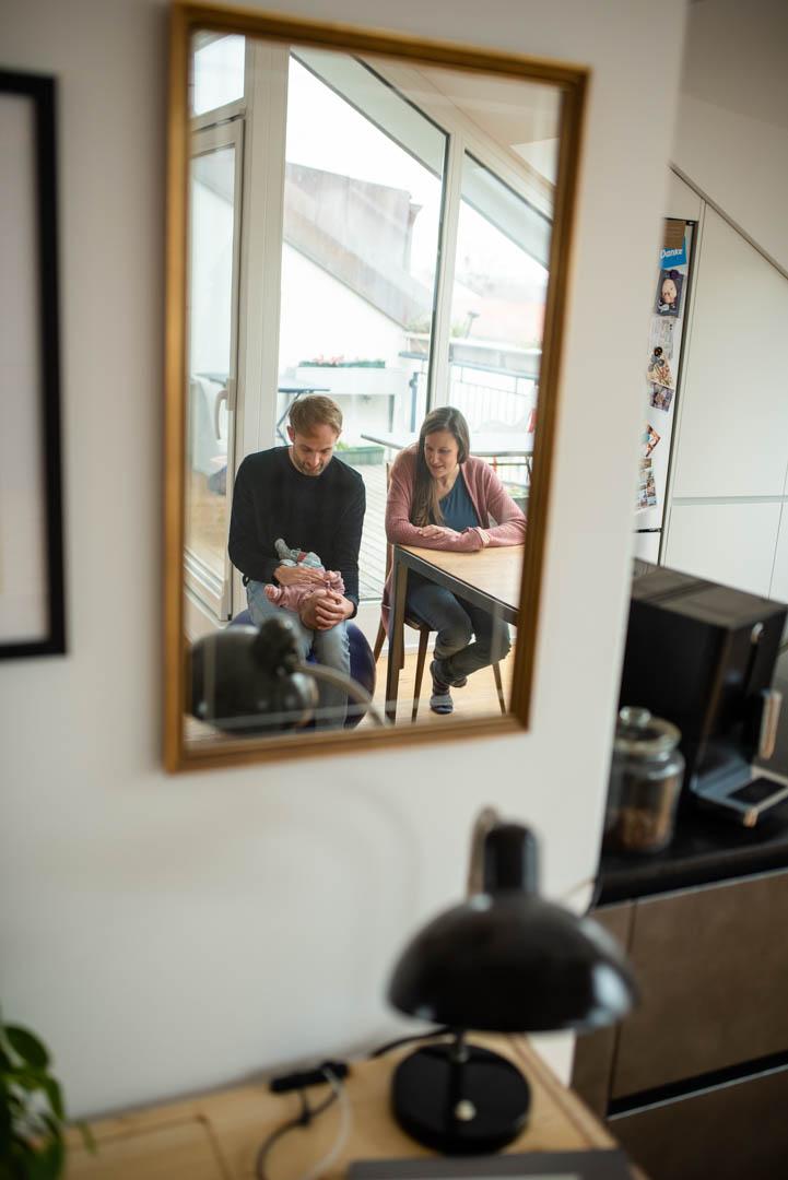 Homestory Familienportrait im Spiegel