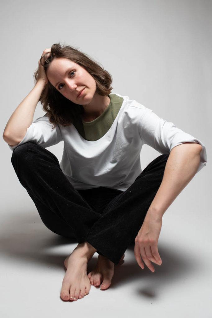Miriam Reinhardt im Fotostudio
